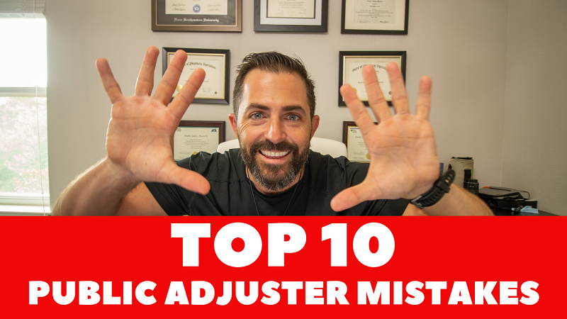 public adjuster mistakes