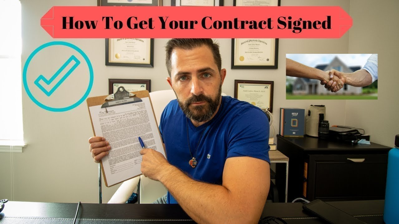 sign the contract public adjuster