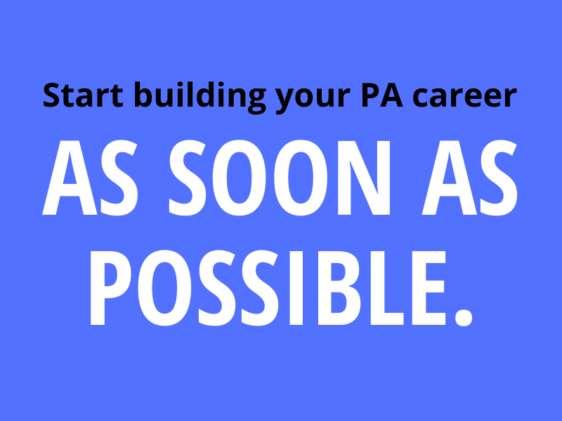 building PA career